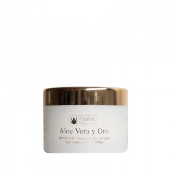 Crema facial antiarrugas y lifting Aloe Vera & Oro 200ml