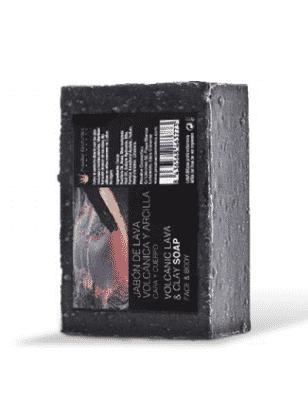 jabón de lava volcánica y arcilla